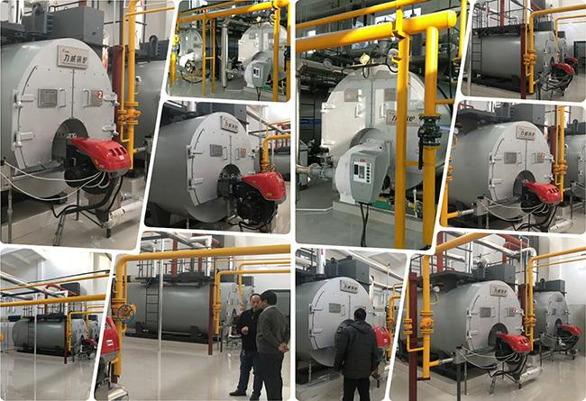 1.8 - 3.9m³ Water Volume Gas Fired Boiler , High Efficiency Gas Boiler OHSAS Approved