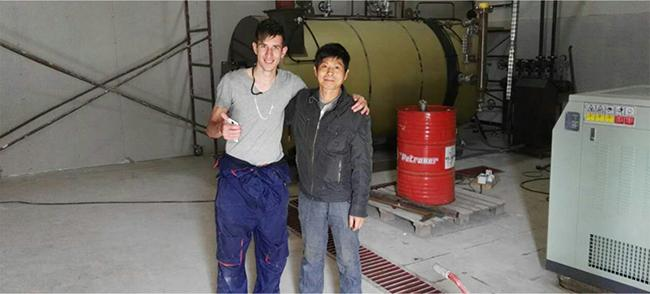Small Capacity 500kg Oil Burner Boiler , Oil Steam Boiler Fire Tube Structure