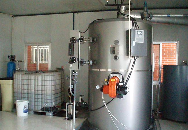 Large Heating Surface Vertical Steam Boiler Oil Fired For Food Industry