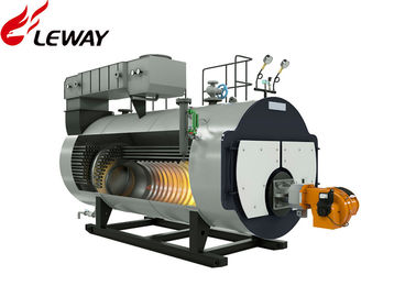 China Diesel / Crude Oil Boiler Furnace , Oil Fired Combi Boiler With New Heat Insulating Material supplier